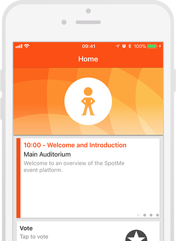 SpotMe app on mobile