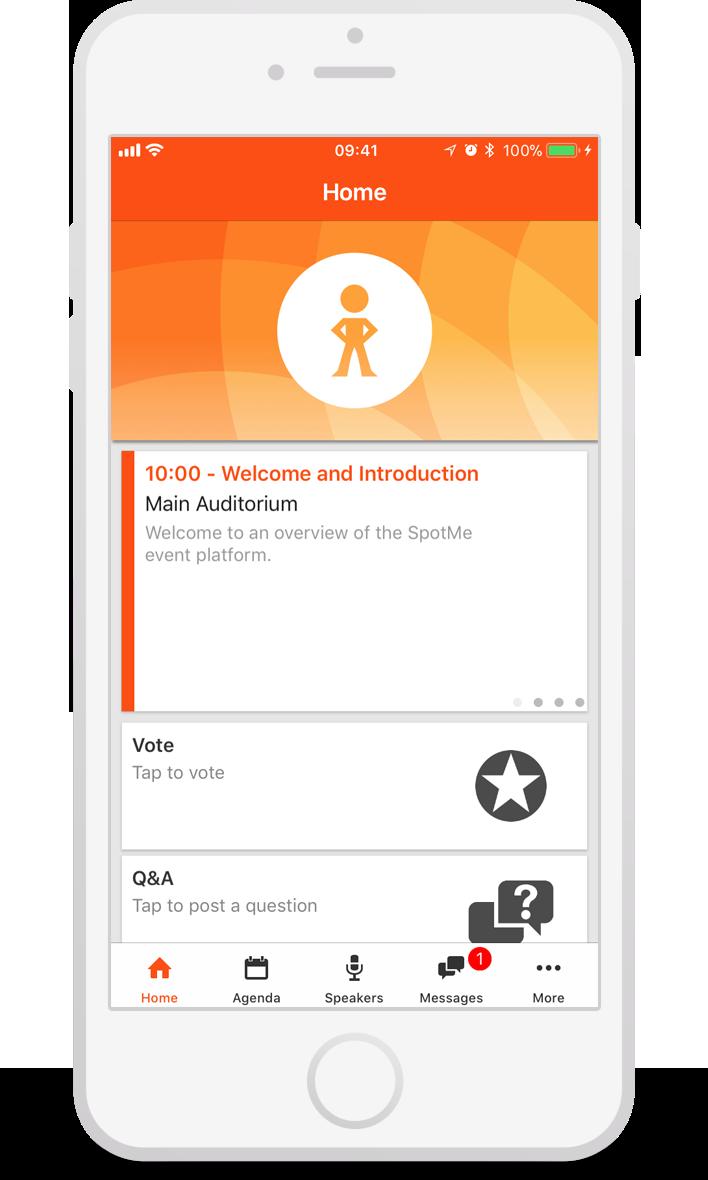 SpotMe app on mobile