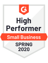 G2 high performer for small business Spring 2020