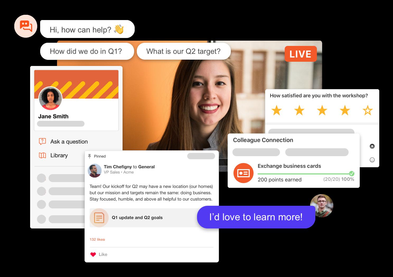Screenshot of the SpotMe platform