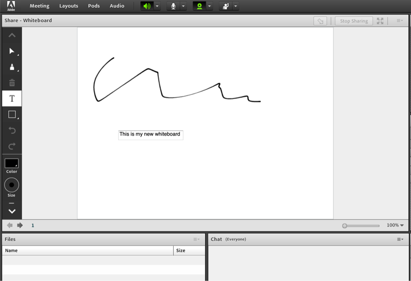 Adobe Connect Whiteboard