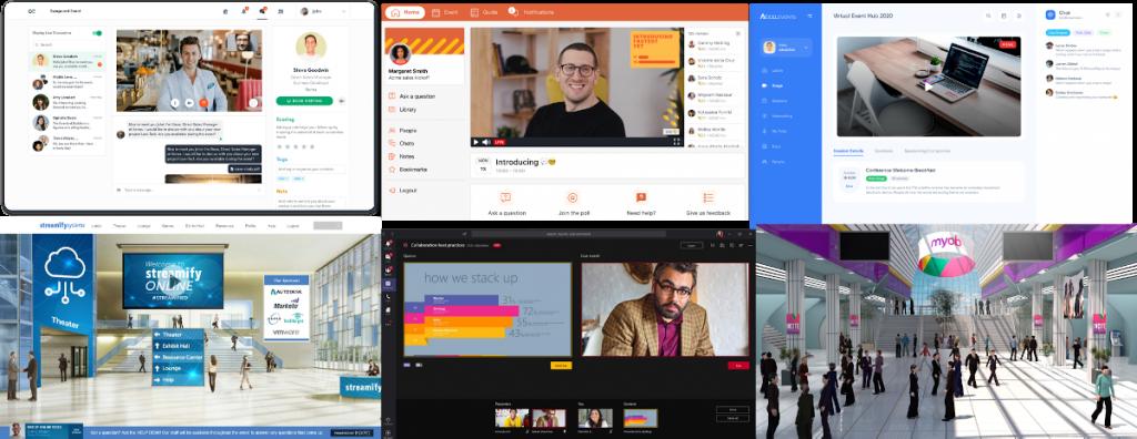 Mosaic of virtual conference platforms