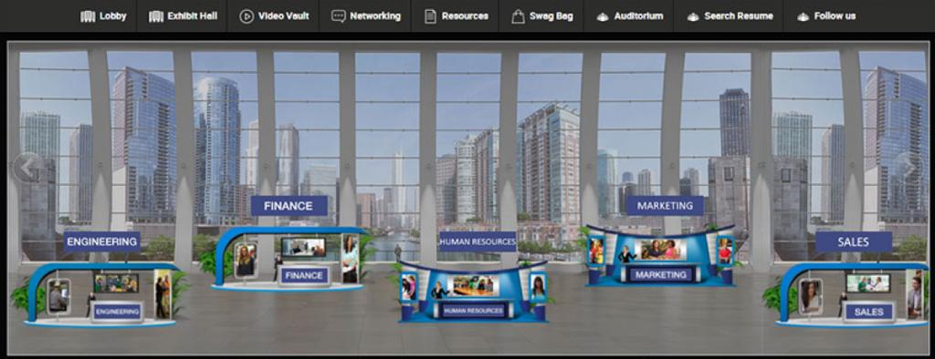 vFairs 3D virtual booths