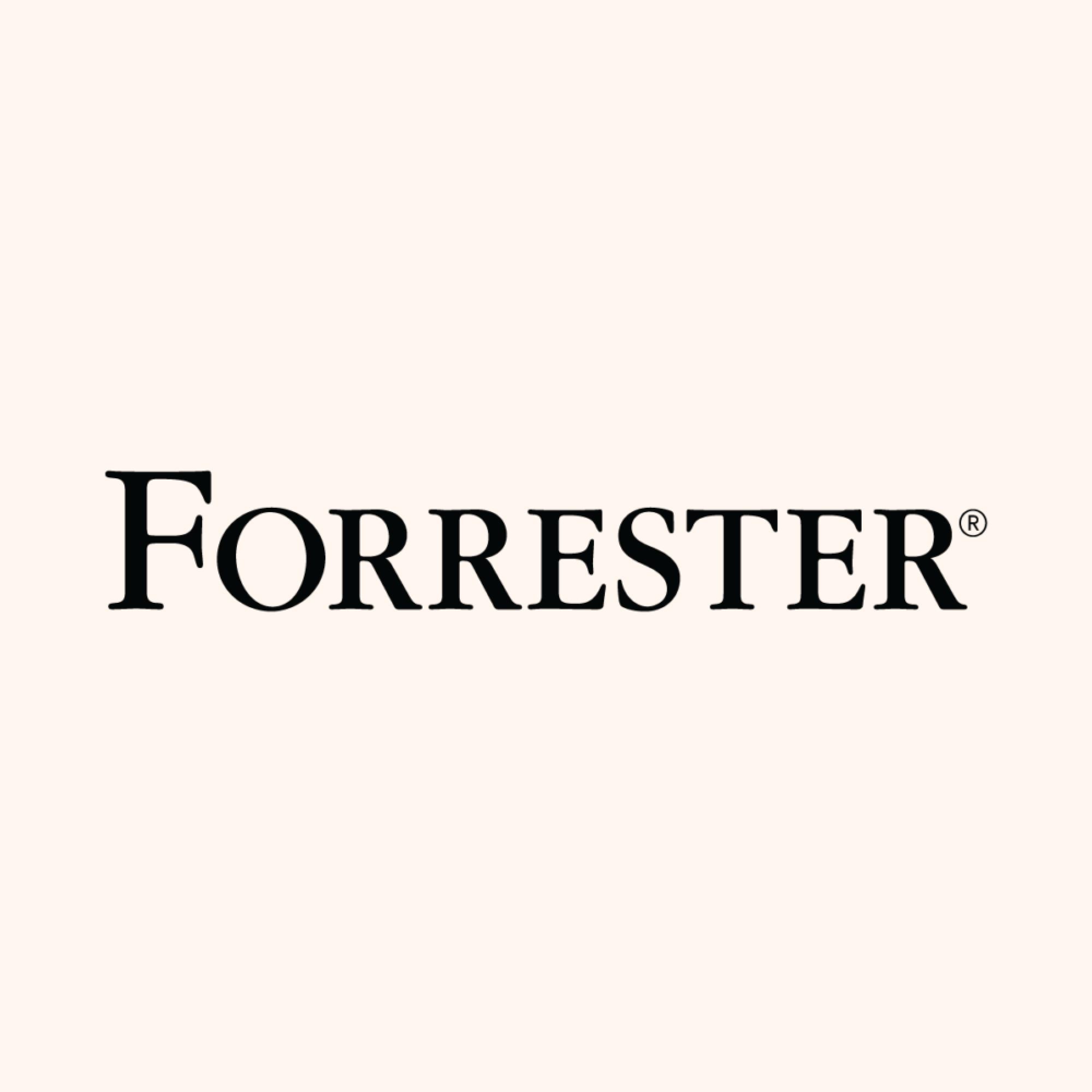 Forrester logo b2b online event tech report