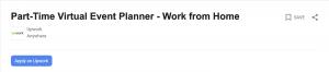 Upwork virtual event planner job posting