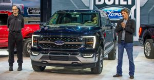 Virtual product launch event for Ford F150
