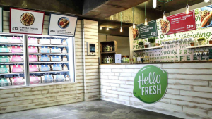 Hello Fresh pop up, experiential marketing example
