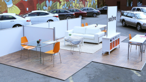 Solve outdoor office, experiential marketing