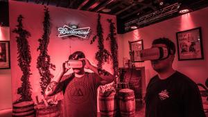 Anheuser Busch virtual reality beer garage