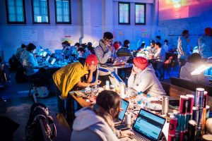 Junction's Hybrid Hackathon, experiential marketing example